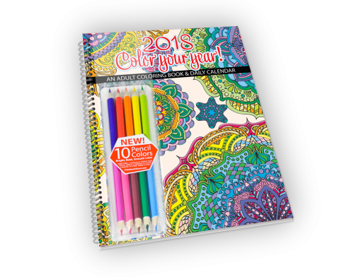2018 Color Your Year with Pencils | DatebookStore