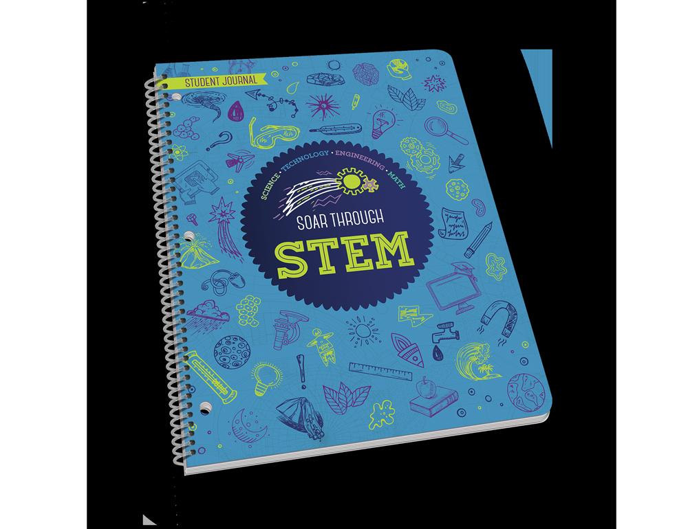 Spiral-bound STEM student workbook.