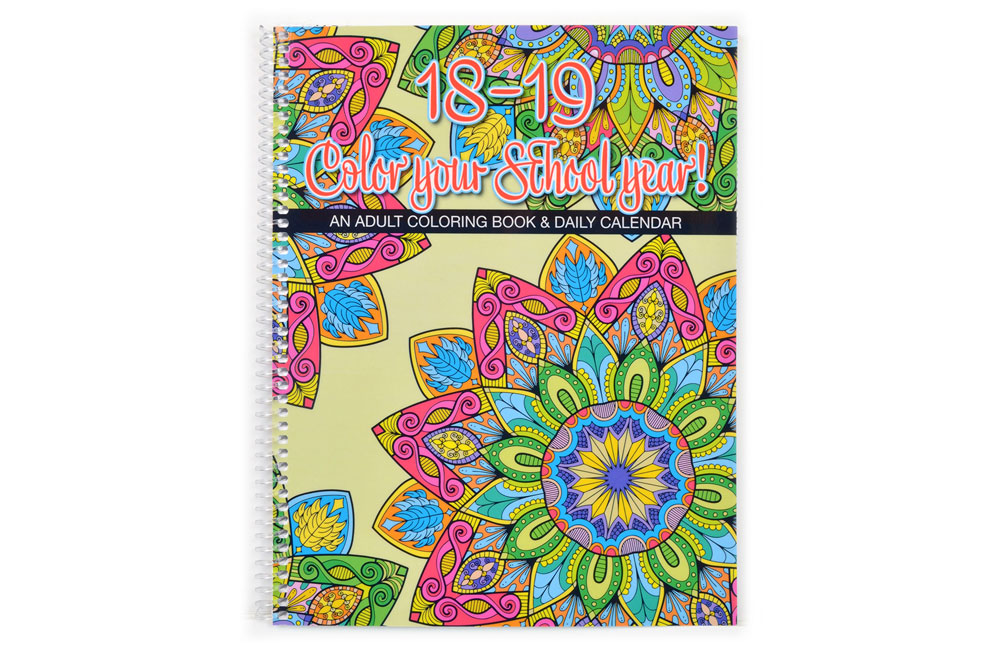 Spiral-bound coloring planner.